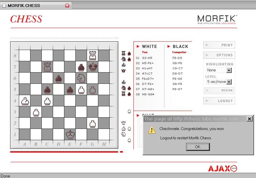 PasWiki : I Beat The Morfik Chess AI Engine
